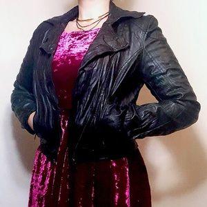 Urban Behaviour black faux leather moto jacket